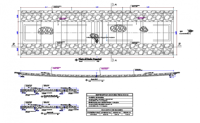 Sewer and Baden section and plumbing construction details dwg file