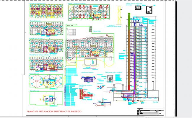 Sewer installations building fire systems guide in autocad files