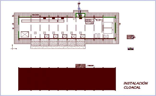 Sewer plan for lift project dwg file