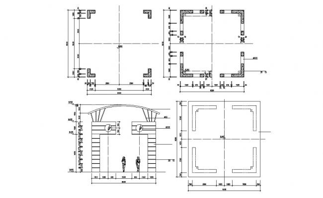 Shade Design Plan and Elevation CAD Drawing