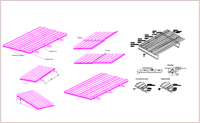 Sheet view with steel structure view dwg file