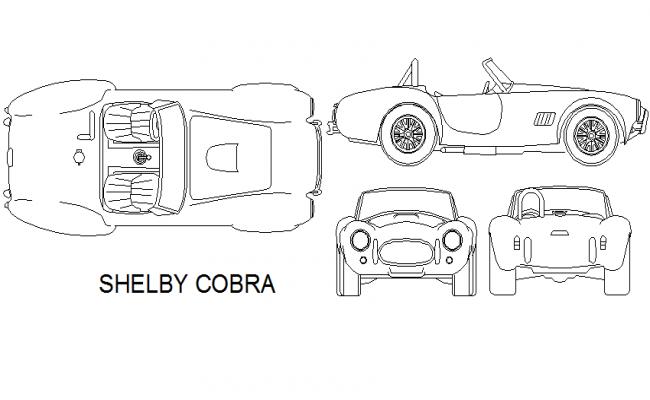 Shelby cobra car detail dwg file