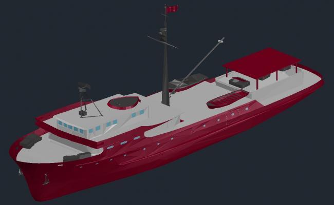 Ship CAD 3d model