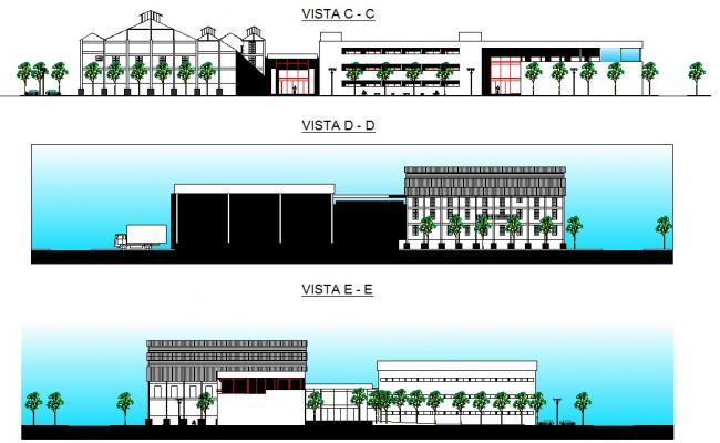 Ship yard section plan detail dwg file