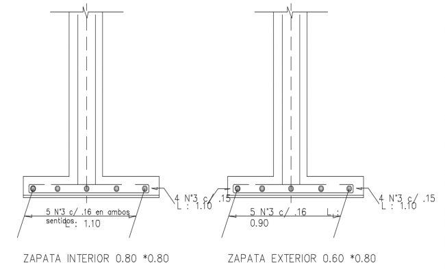 Shoe exterior and interior view with structure view dwg file