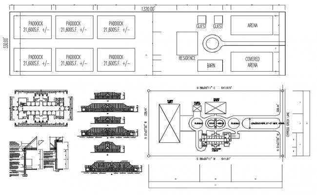 Shop Building Plan DWG File