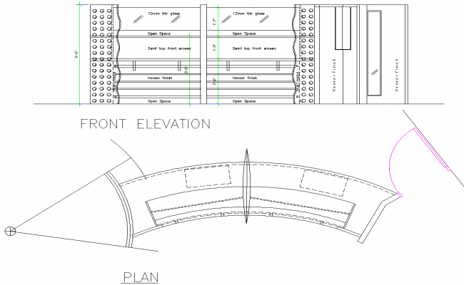 Shop Counter plan dwg file
