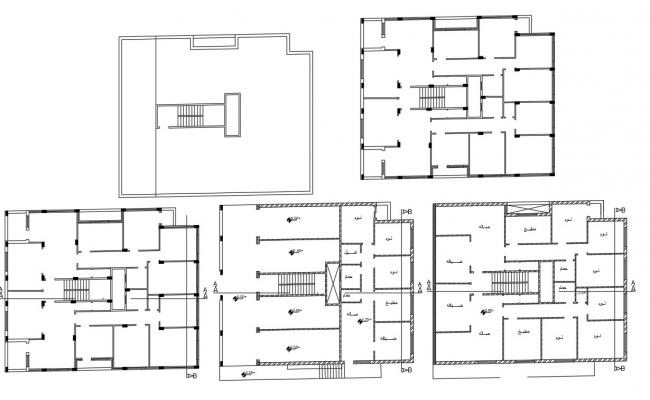 Shop With Apartment House Floor Plan CAD Drawing