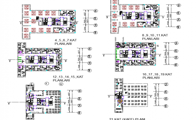 Office Building Design Free AutoCAD Drawings