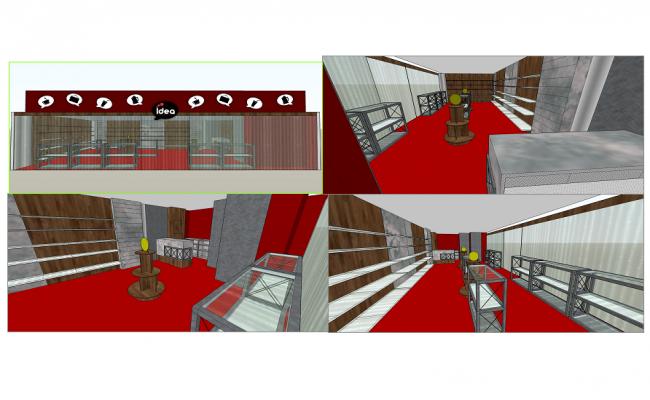 Shop elevation detail dwg file