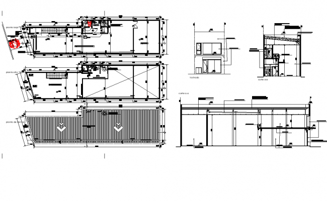 Shop part of shopping area floor plan,elevation and section view with architecture view dwg file