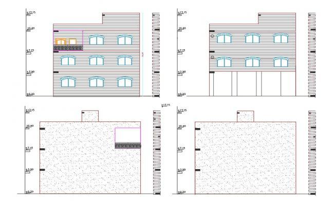 Shop Top Apartment House Building Elevation Design