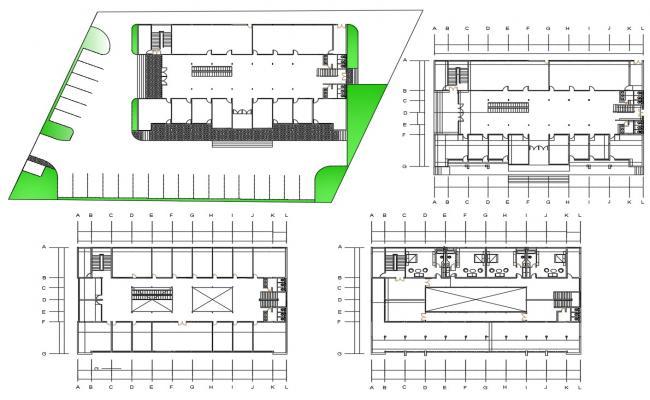 Shopping Mall Design CAD Plan