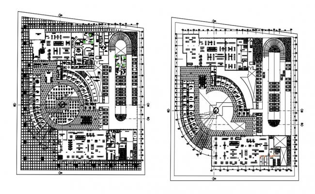 Shopping Mall Design In AutoCAD File