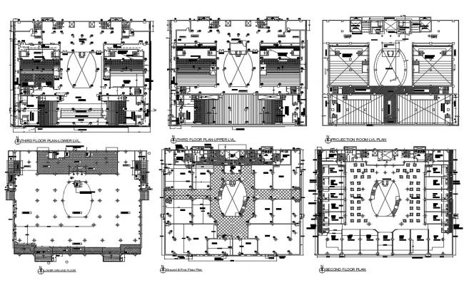 Shopping Mall plan CAD File Download