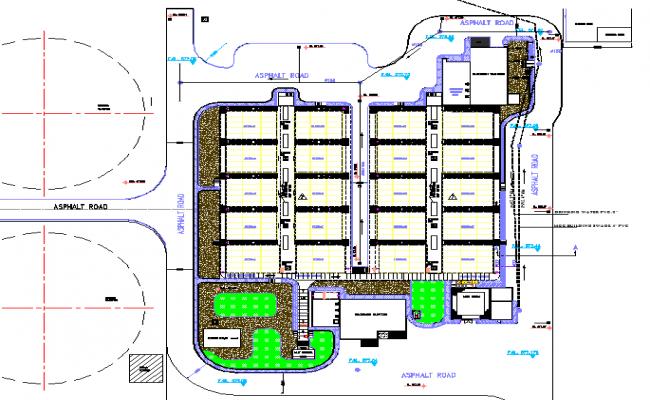 Shopping Market Layout plan