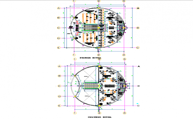 Shopping centre business and administrator plan detail dwg file