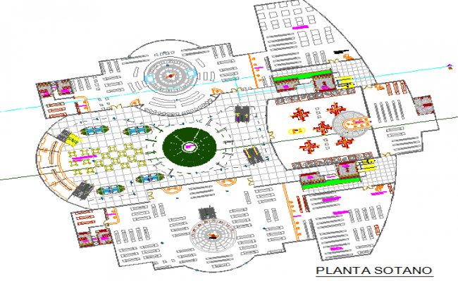 Shopping mall architecture layout plan details dwg file