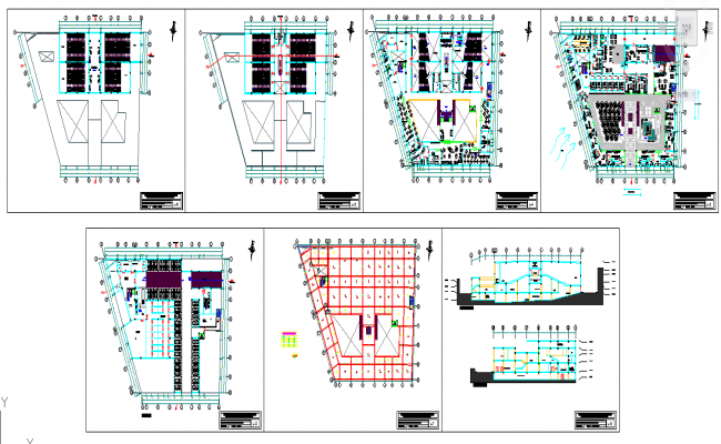 Shopping mall floor plan design