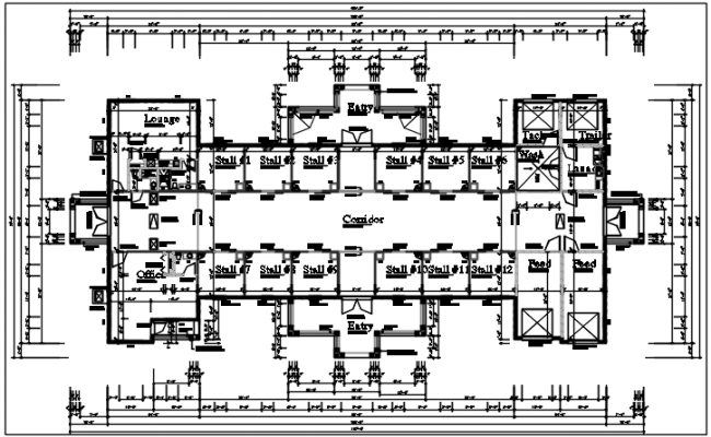Ping Mall Plan Elevation Section : Shopping mall plan layout details dwg file
