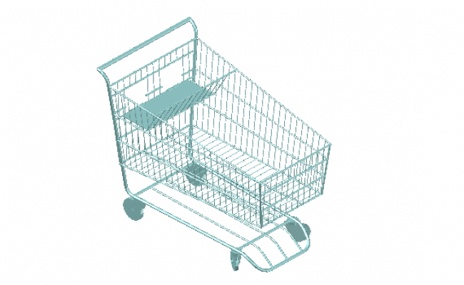 Shopping trolley 3d files