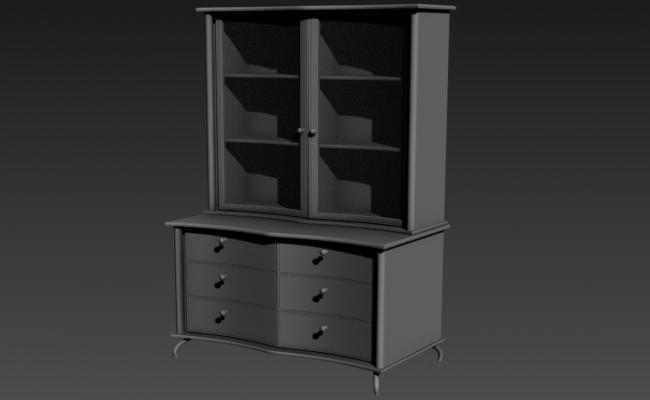 Showcase TV Cupboard Design Furniture 3d Model Max file