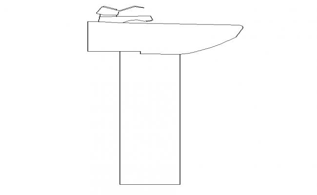 Side Elevation Wash Basin Block
