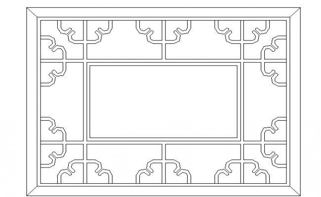 Side cut outs window elevation