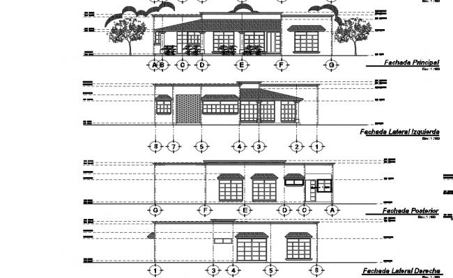 Side house elevation details