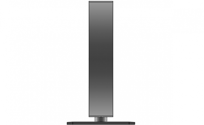 Side view of an LCD
