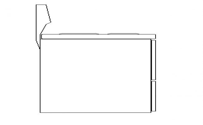 Side view of washing machine bock design dwg file