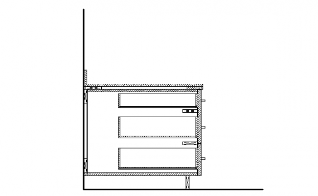 Side view table design dwg file