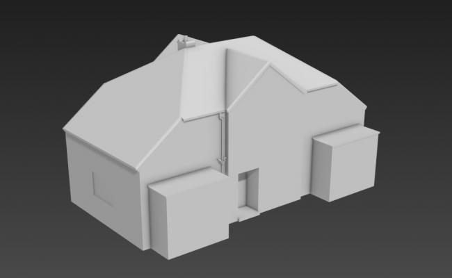Simple Basic House Elevation 3D MAX File Free