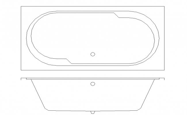 Simple Bath Tub Plan & Elevation block detail