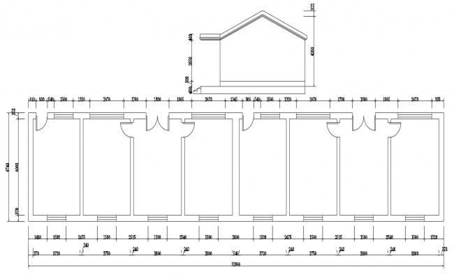 Simple Building Plan With Dimension AutoCAD File Free
