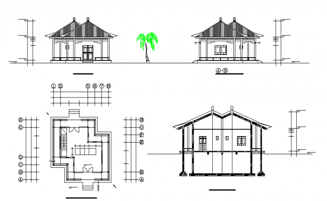 Simple Home Design In Cad File