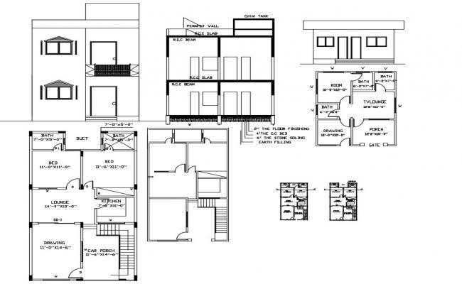 Simple House Design CAD File