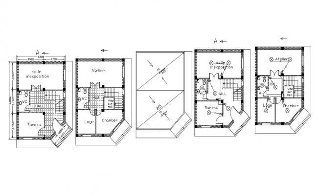 Simple House Design CAD File Free Download