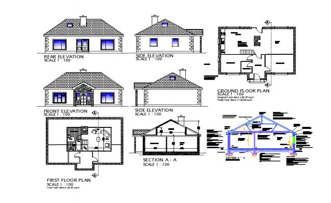 Elevation Plan Description : Simple house design