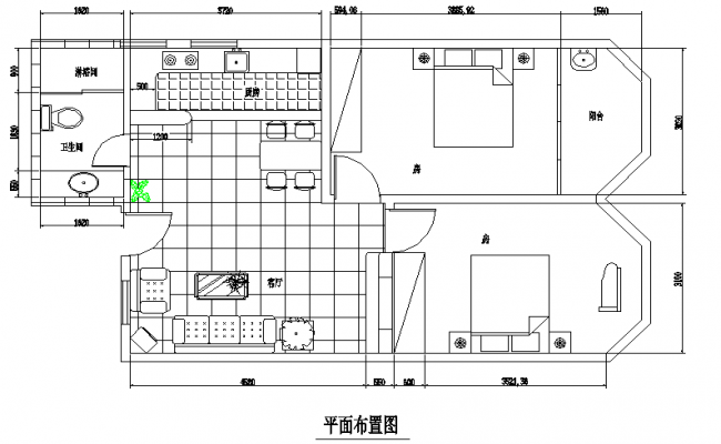 Simple House Interior Lay-out Design