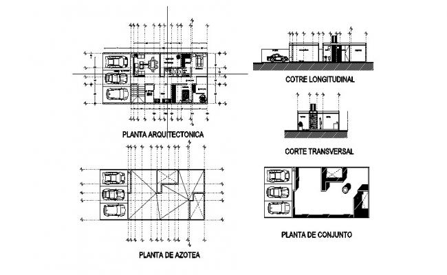 Simple House Plan In DWG File