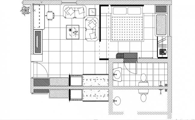 Simple House Plans Auto CAD File Free Download