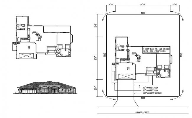 Simple House Plans DWG File