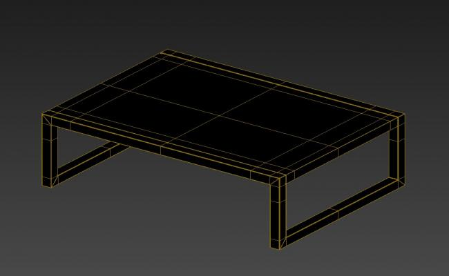 Simple Rectangle Center Table With Rendered In 3D MAX File Free Download