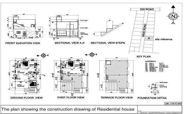 Simple Residential Building Plan