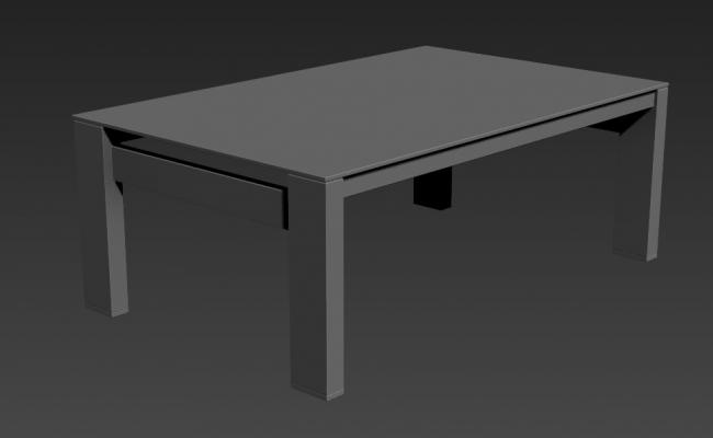 Simple Square Center Table Designs Free Download 3D MAX File