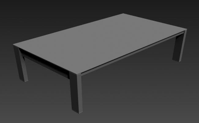 Simple Table Design With Basic Rendered in 3D MAX File
