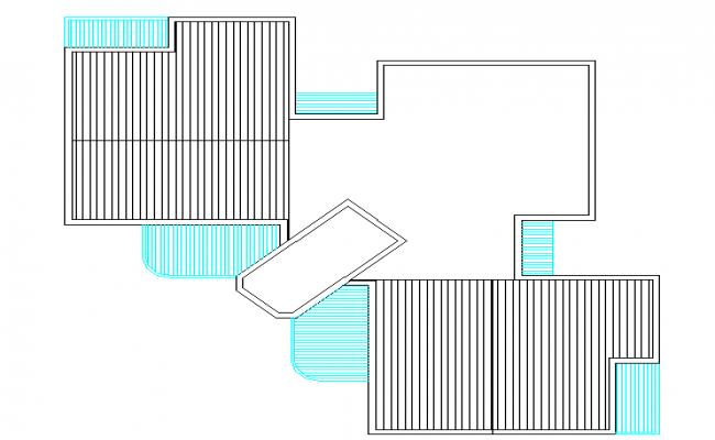 Simple Terrace Top View Plan Detail