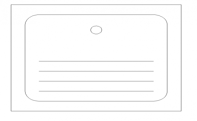 Simple Wash Basin design Block