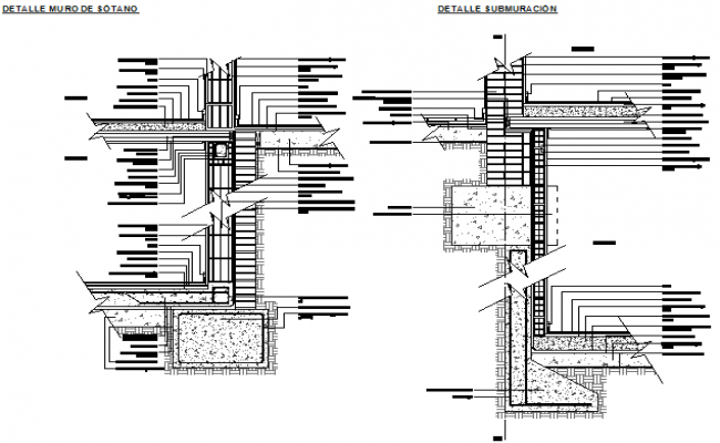 Simple foundation details ceramic block of house construction dwg file